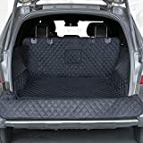 PETICON SUV Cargo Liner for Dogs, Waterproof Pet Cargo Cover Dog Seat Cover Mat for SUVs Sedans Vans with Bumper Flap Protector, Non-Slip, Large Size Universal Fit