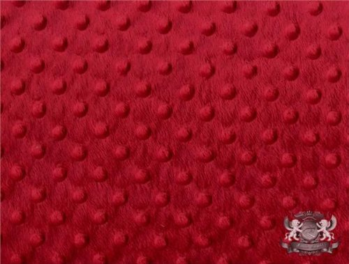 Minky Dimple Dot Blanket Fabric 60' Wide Sold by The Yard (RED)
