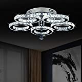 Lampadari cristallo,Plafoniere interne Luci acciaio inossidabile LED 50W lampada da soffitto [Classe di efficienza energetica A]