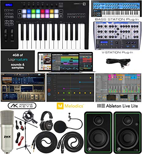 Novation Launchkey 25 MK3 USB MIDI Keyboard 25 Keys Controller with Software Pack of...