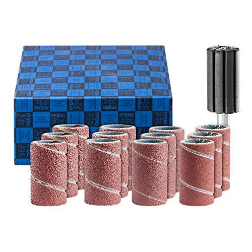 PFERD 42298002 Schleifhülsen-Set, 13-tlg. | Korund Ø15x30mm A60,80,150,240 inkl. Halter mit Schaft-ø 6mm | für universelle Anwendungen, 15x30 mm