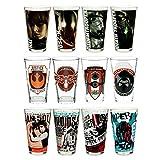 Juego de 12 vasos de cristal decorativos, diseño retro de Star Wars, 473 ml, resistentes, aptos para microondas o lavavajillas