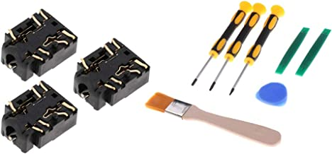 F Fityle 3Pieces Replacement 3.5mm Port Headphone Jack Socket Repair for Xbox One S Controller + 7 in 1 Screwdriver Sets