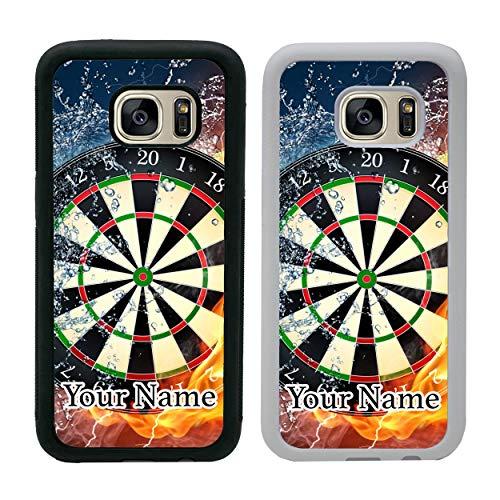 I-CHOOSE LIMITED Darts Personalisierter Handyhülle für Samsung Galaxy S8 Plus Hülle Smartphone Benutzerdefinierte Hülle Dein Name Stoßstange für G955