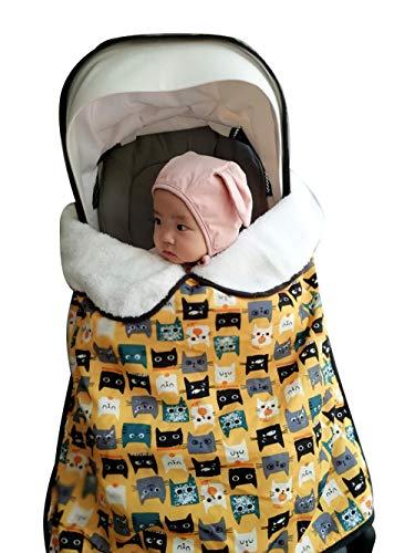 Coperta per dormire con carrello per passeggino con clip Coperta imbottita calda impermeabile antivento, Coprigambe universale per seggiolino auto Passeggino Baldacchino Borsa per stamina per bambini