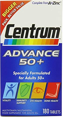 Centrum Advance 50+ Multivitamin - Pack of 180 Tablets