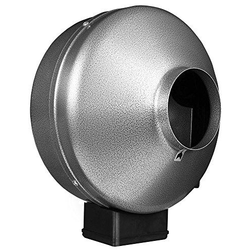 """iPower 6 Inch 442 CFM Duct Inline Fan with 6"""" Carbon Filter 8 Feet Ducting Combo for Grow Tent Ventilation"""