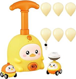yeesport Kids Balloon Powered Car Set Creative Cute Aerodynamic Car Toy Balloon Racer Toy Educational Science Toys with Ma...