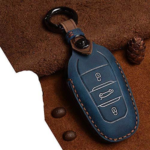 NASHDZ Carcasa de Cuero para Llave de Coche, para Peugeot 208 DS3, para Citroen C4 C5 C4L X7 C6 3008 4008