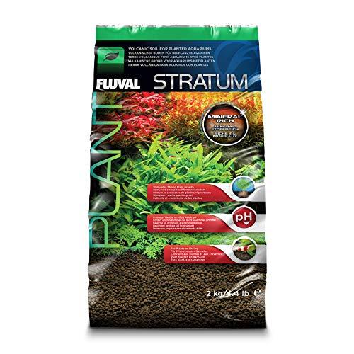 Fluval Stratum vulkanischer Bodengrund für bepflanzte oder Garnelen-Aquarien 2 kg