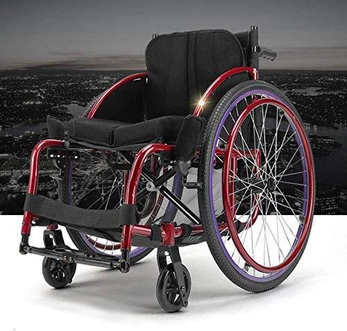 Leichtklappselbst Propel Rollstühle Selbstfahrer Rollstuhl Toilettenstuhl, Klapp Transit Rollstuhl mit Handbrems Liegerad Rollstuhl, leichte Rollstühle, Multifunktions liegend Liegenden Driving Medica