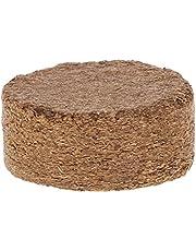 Pellet de fibra de coco de fibra de coco ligero, suelo para plantas de jardín, base comprimida de jardín, suelo para césped