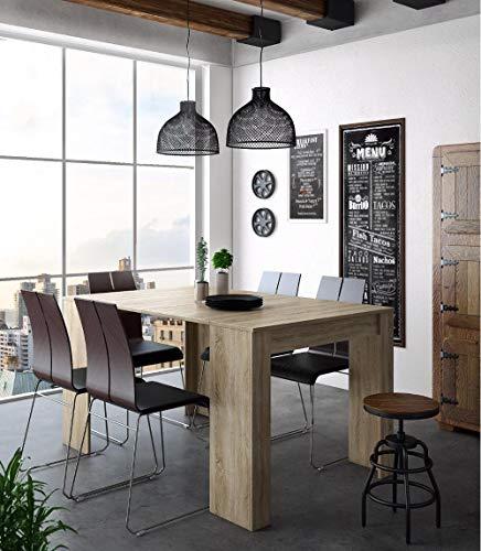COMFORT Home Innovation - Tavolo Consolle per Sala da Pranzo e Soggiorno, Rettangolare, allungabile Fino a 140 cm, Finitura Rovere, Fino a 6 Persone, Dimensioni Chiuso: 90x50x78 cm.
