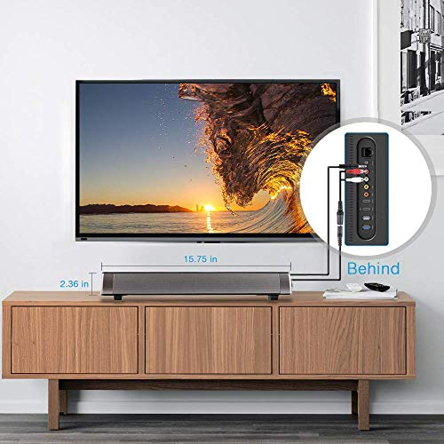 Barra de Sonido, Altavoz PC de Sonido USB, Barra de Sonido de TV, 10W 3.5mm AUX RCA Slot per schede TF, Barra sound bar Senza Fili Ricaricabile, Altavoz Bluetooth con Cable e inalámbrico Altavoz, teléfono Celular, TV, Sonido Fuerte, Soporte RCA/AUX/Bluetooth, con Control Remoto per PC/ Notebook / TV/ DVD/Smartphone/Iphone/Samsung/Sony/Ipad