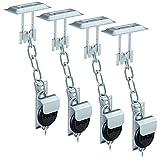BASI® 2x Gitterrostsicherung GS100 Stahl verzinkt Zusatzsicherung für Lichtschacht/Kellerschacht