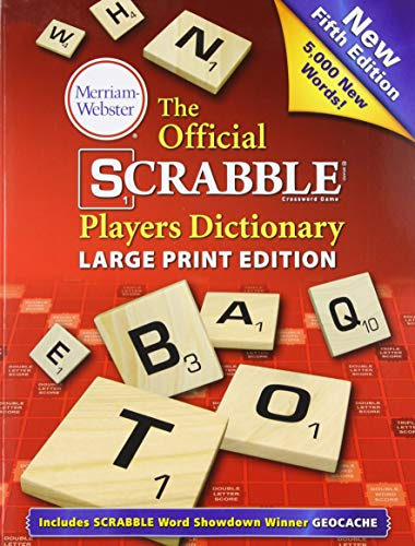 The Official Scrabble Players Dictionary, 5th Edition, Large Print, Trade Paperback