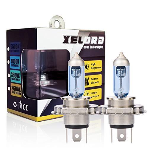 Halogen H4 Scheinwerferlampe Birne 60/55W 12V Auto Abblendlicht Fernlicht Glühlampen mit Zulassung - 2 Stück …