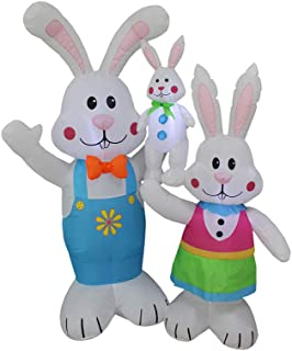 Impact Canopy Inflatable Outdoor Easter Decoration, Easter Bunny Family, 5 Feet Tall