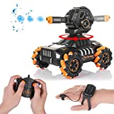 🚗 Multiple intelligent driving mode: The water bomb armored vehicle is an intelligent car that integrates remote control driving and launching water bombs. It is equipped with multiple intelligent driving modes. Multiple stunt driving, multi-point si...