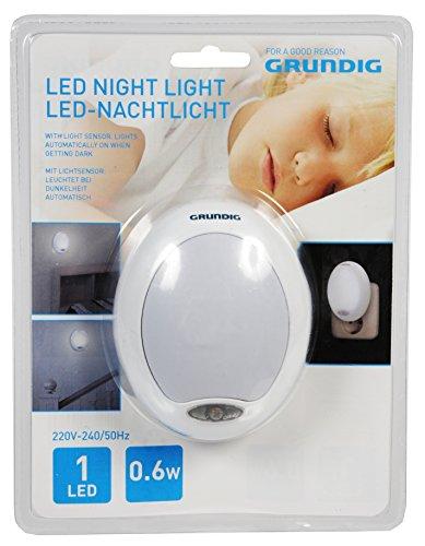Grundig 871125241338, LED - Nachtlicht mit Sensor, Plastik, weiß, 8 x 7.7 x 10 cm
