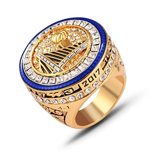 2017 NBA Golden State Warriors Ring Library Championship Ring Anillo de hombre Joyas - Diámetro 22,1 mm circunferencia 69,6 mm