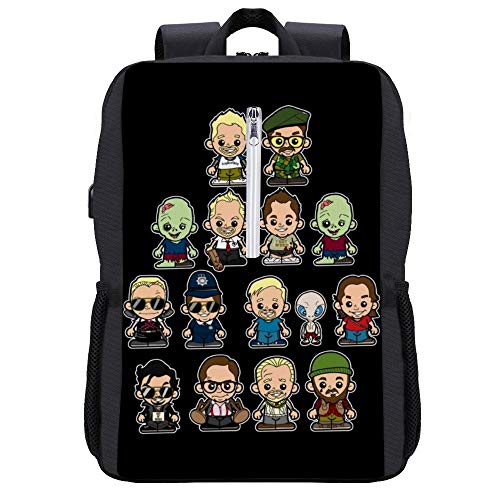 The Adventures of Simon And Nick Rucksack Daypack Bookbag Laptop Schultasche mit USB-Ladeanschluss