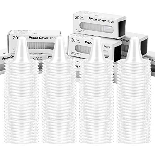 LAOYE 200 Ersatzschutzkappen für alle Braun Thermoscan Ohrthermometer 10 Box Schutzkappen je 20 Stück Sondenabdeckungen für Braun Ohr Fieberthermometer Ohrthermometer, Einwegabdeckungen