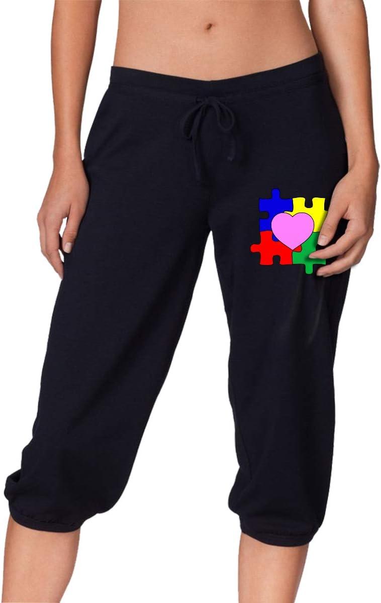 MOCSTONE Women's Jogger Capri Pants Awarenes Limited time sale Autism Heart Puzzle Brand Cheap Sale Venue
