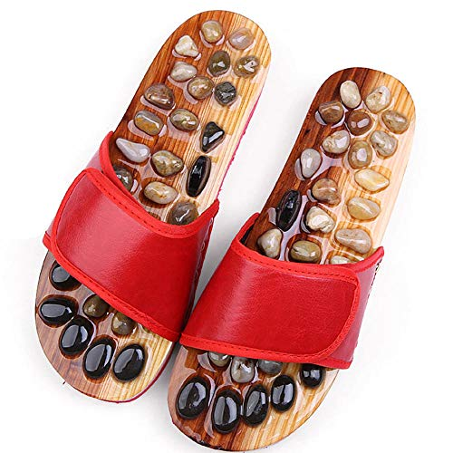 XNSY Acupoint Foot massage slippers acupoint foot massage shoes sandals and slippers-red_37-38