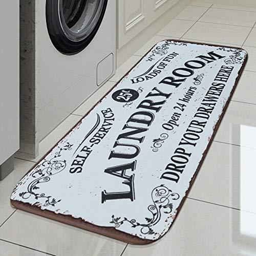 HLXX Alfombra de Piso Alfombra de lavandería Alfombra de Entrada Alfombra de baño de lavandería Alfombra Decoración de Sala de lavandería Balcón Alfombra Antideslizante A3 40x120cm