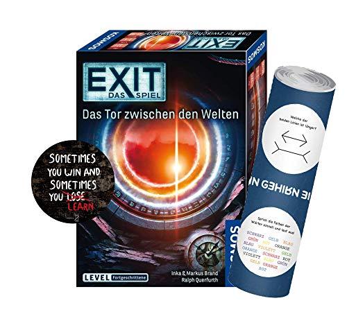 Collectix EXIT - Das Spiel: Das Tor zwischen den Welten (Level: Fortgeschrittene), Escape Room Spiel ab 12 Jahren + 1x Exit-Sticker+ 1x optisches Täuschungsposter