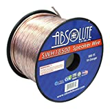 Absolute USA SWH18500 18 Gauge Car Home Audio Speaker Wire Cable Spool 500'