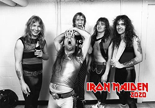 WallKalender 2020 [12 blatt 20x30cm] Iron Maiden Heavy Metal Musik Vintage Retro Poster Plakat Photo Magazine Cover