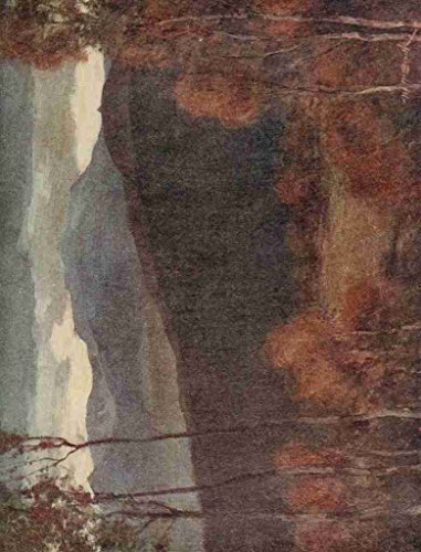 A4 foto Smith William Lochnagar Aberdeenshire Scotland 1915 oscuro Póster