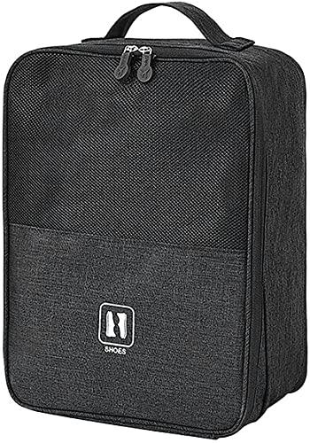 wgkgh Shoe Bag, Portable Travel Shoe Bags Holds 3 Pair of Shoes,Waterproof Portable Organizer Storage Shoe (Black)
