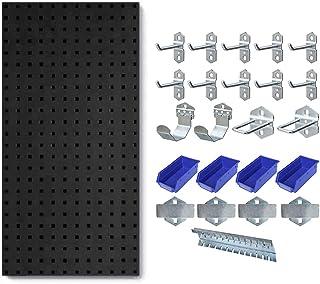 NXM Etagere De Rangement Garage Panneau Perforé avec Boîtes De Rangement, Bac De Rangement Atelier Bricolage, Lot de Ensem...