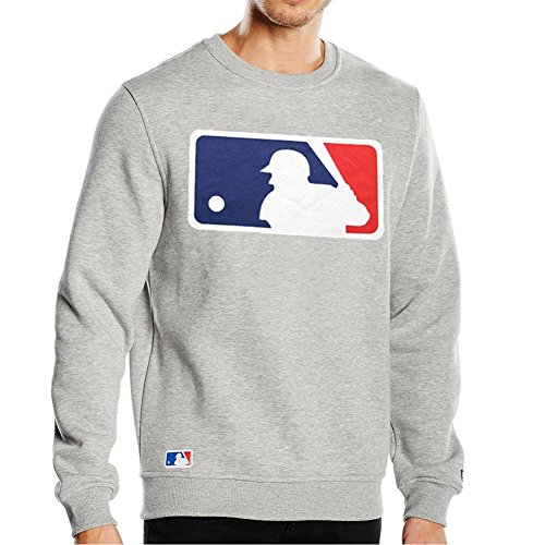 New Era Pullover - MLB Logo Baseball Gris
