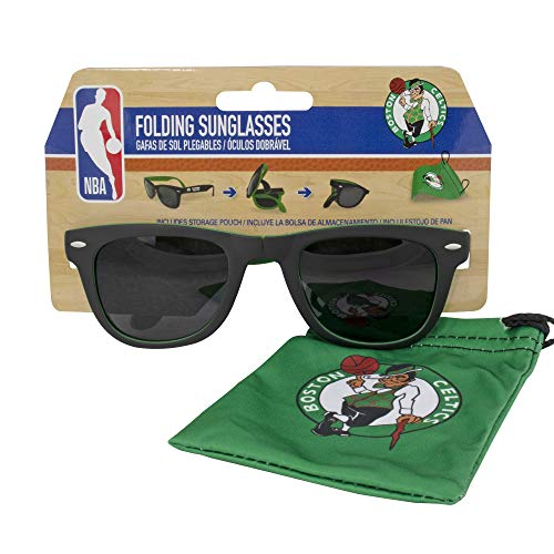 Boston Celtics Folding Sunglasses with Carrier Pouch