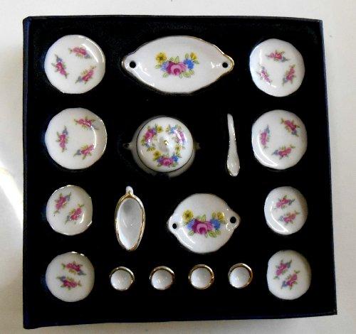 Melody Jane Casa de Muñecas Miniatura Comedor Accesorio 1:12 Escala Porcelana Vajilla