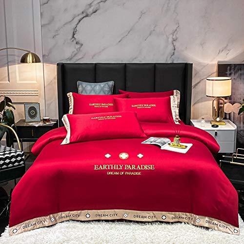 juego de funda de edredón 3d-Xiabei European Silk King doble cama cama individual cama individual cama individual cama individual cama individual cama individual-GRAMO_1,8 m de cama (4 piezas)
