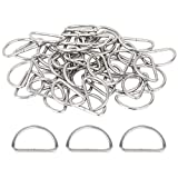 150 Pieces Metal D Rings 1 Inch Non Welded Nickel Hardware Bags Ring for Sewing Keychains Belts and Dog Leash Hand DIY Accessories