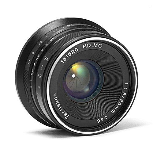 7artisans 25mm F1.8 Mise au Point Manuelle Prime Fixe Objectif pour Appareil Photo Fujifilm Fuji X-A1 X-a10 X-A2 X-a3 X-at X-M1 XM2 X-T1 X-T10 X-t2 X-t20 X-Pro1 X-pro2 X-E1 X-E2 X-E2s