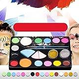 PowerBH Kids Holiday Show Show Puntelli per pittura Set per il trucco per la pittura del viso