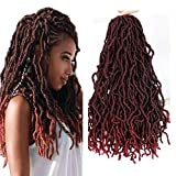 1 Pack New Soft Locs Crochet Braids 18inch Faux Locs Crochet Hair Soft Gypsy Locs Crochet Curly Wavy Twist Synthetic Braiding Hair African Roots Dreadlocks Hair Extensions (21 Roots/Pack) #Tbug
