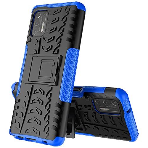 GARITANE Funda Compatible con Motorola Moto G Stylus 2021,Híbrida Rugged Armor Case Back Cover Choque Bumper Carcasa con Kickstand (Azul)