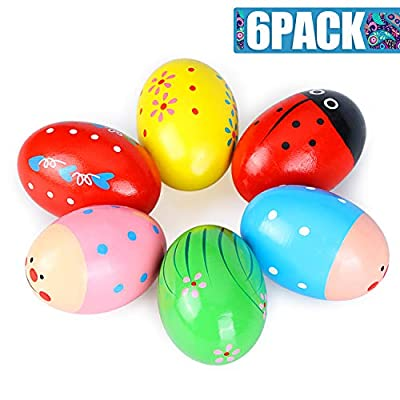 Easter Eggs, Touber Maracas Egg Shakers for Kids Easter Toys for Babies Easter Gifts for Toddler Toys for 1-5 Year Old Boys Girls Gifts for 1-5 Year Old Boys Girls Easter Basket Stuffers for Kids