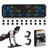 NC Tavola Push-up 16 in 1, Rack Push-up Pieghevole e Portatile, Macchina per Esercizi Fitness Maschile e Femminile, Set bilanciere Home Fitness (per Esercizi per Tutto Il Corpo)
