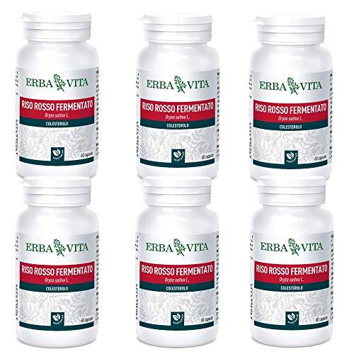 RISO ROSSO FERMENTATO 60 capsule vegetali Erba Vita (6 Confezioni da 60 Capsule)