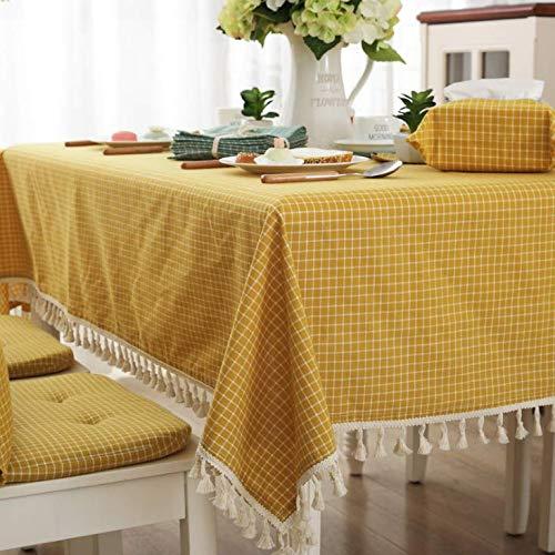 Stof tafel stof gestreept geruit bommel tafelkleed woonkamer salontafel servetten TV tafel stof binnen en buiten