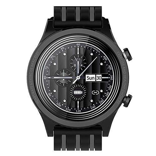 Reloj inteligente for hombres y mujeres rastreador de ejercicios reloj de la pantalla táctil IP68 a prueba de agua recordatorio reloj deportivo multifuncional inteligente Relojes en, gris Negro fengon